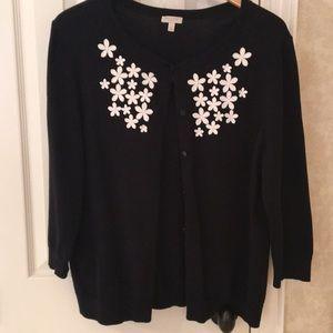 Talbots Sweaters - Floral Cardigan